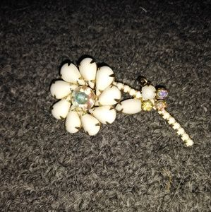 Vintage flower brooch,pln